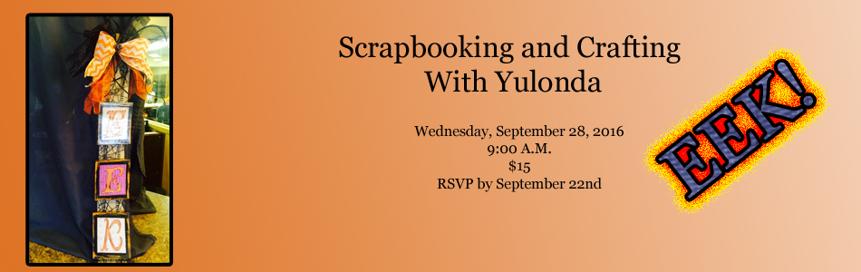 Scrapbooking and Crafting With Yulonda